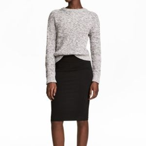 HM Black Pencil Skirt Career Suit Classic 6